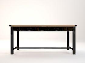 Широкий письменный стол с ящиками Industrial