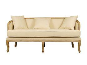 Трёхместный мягкий диван с резными ножками