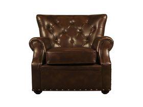 Мягкое кожаное кресло Люкс в кабинет
