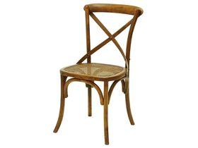 Стул в стиле авангард с плетёным сиденьем