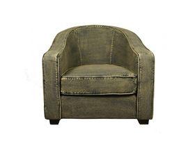 Кресло с джинсовой обивкой Loft