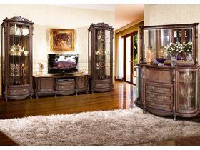 """Комплект мебели для гостиной """"Луи"""" в темном цвете"""