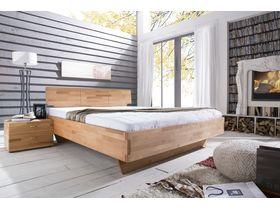 """Кровать c изголовьем из массива ядрового бука в минималистичном стиле  """"Cielo"""""""