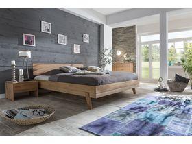 """Кровать c изголовьем из массива ядрового бука в необычном стиле  """"Livia"""""""