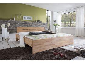 """Кровать c изголовьем из массива ядрового бука в древесном цвете  """"Sava"""""""