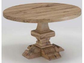 """Круглый стол из натурального дерева на кухню """"Loft City"""""""