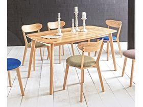 """Раздвижной стол из натурального дерева на кухню """"Harlem"""""""