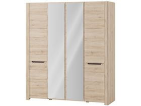 """Шкаф 4-дверный с зеркалом """"Desjo"""""""